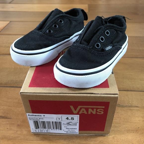 Vans Authentic V Black Slip On Shoe Toddler Sz 4.5.  M 5ab13d363a112e55440bddd4 b888f2d32a